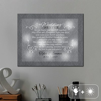 TwinkleBright® LED Wedding Prayer Canvas