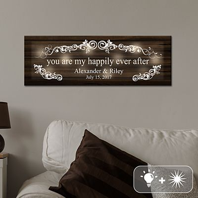 TwinkleBright® LED You Are My Happily Ever After Canvas