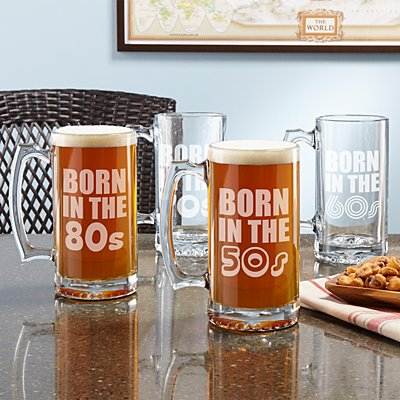 Born In Birthday Oversized Beer Mug