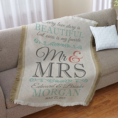 Every Love Story Wedding Throw