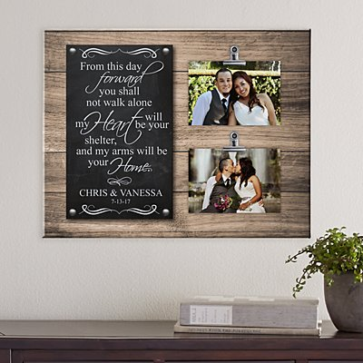 Heart & Home Photo Wedding Canvas