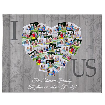 Photos of Us Collage Canvas - 50x40 cm-Unframed