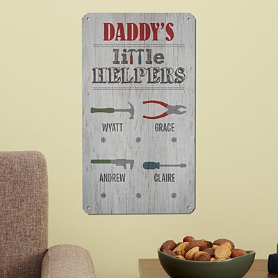 Little Helpers Metal Sign