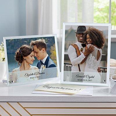 Wedding Photo Glass Message  Frame