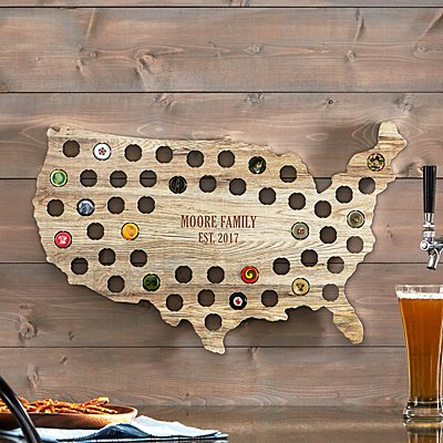 USA Beer Cap Wall Display