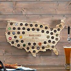 USA Beer Cap Wall Display
