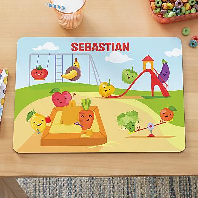 Count Your Fruit & Veggies Kids Placemat