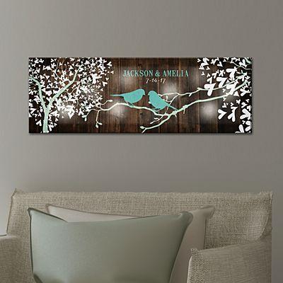 TwinkleBright® LED Sweet Lovebirds Canvas