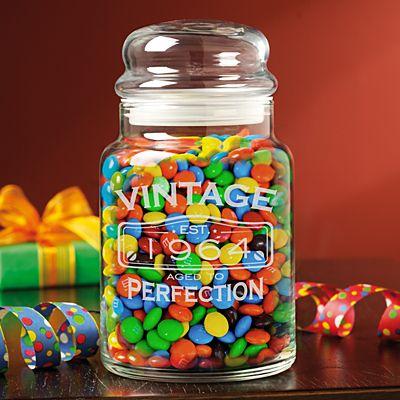 Classic Vintage Birthday Candy Jar