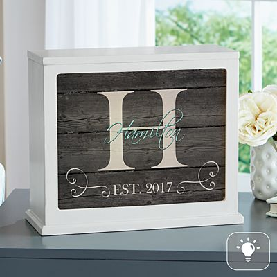 Family Initial & Name Accent Light