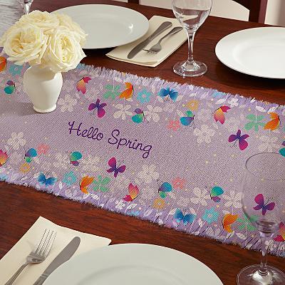 Spring Butterflies Table Runner