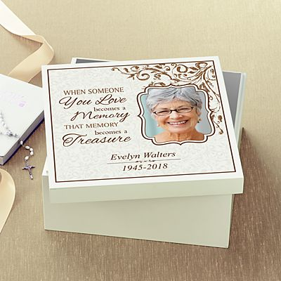 Treasured Memories Sympathy Keepsake Box