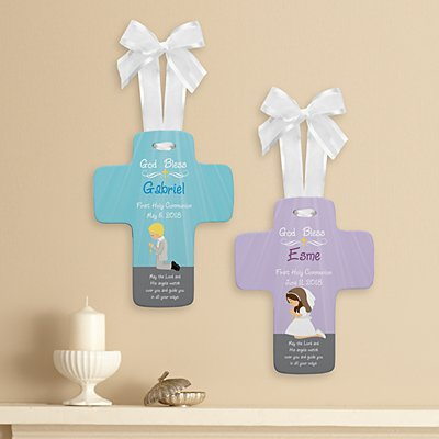 Hear Me Pray Communion Keepsake Cross