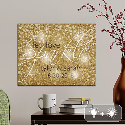 TwinkleBright® LED Let Love Sparkle Canvas