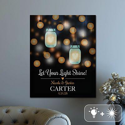 TwinkleBright® LED Love Lights Up Canvas