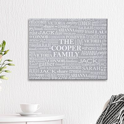 Family Treasures Canvas