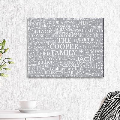 Family Treasures Canvas