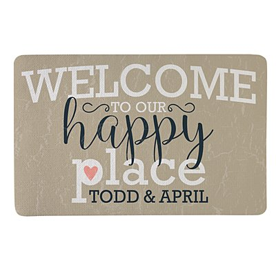 Welcome to Our Happy Place Doormat - 17x27