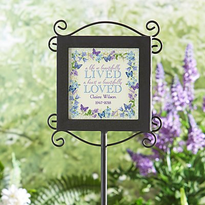 A Beautiful Life Memorial Garden Stake