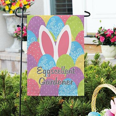 Bunny in Eggs Garden Flag