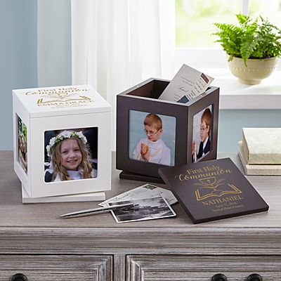 First Communion Rotating Keepsake Box