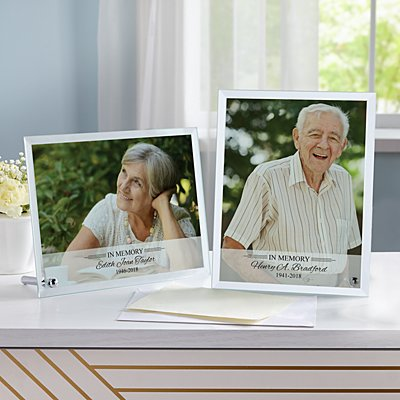 Memorial Glass Photo Frame