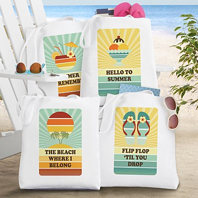 Retro Beach Tote Bag