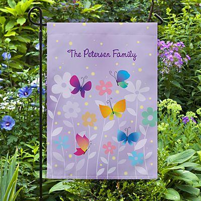 Spring Butterflies Garden Flag
