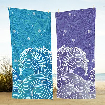 Swirls Of Fun Beach Towel