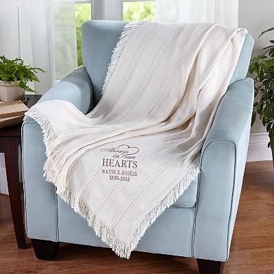 Memorial Embroidered Throw