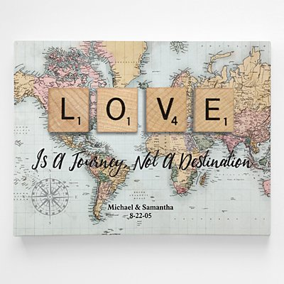 Love is a Journey Canvas Wall Art