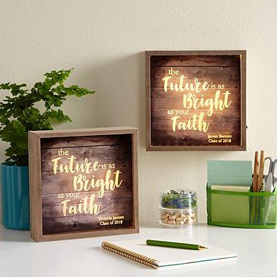 Bright As Your Faith Light Box