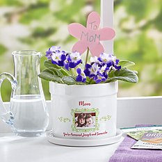 Picture Perfect Photo Flower Pot with Message