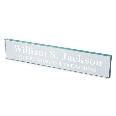 Executive Beveled Glass Nameplate