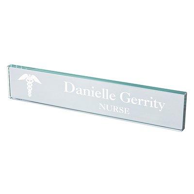 Medical Beveled Glass Nameplate