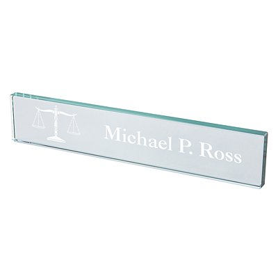 Legal Beveled Glass Nameplate