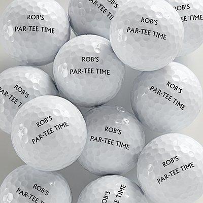Personalized Golf Balls Set 12 - Same Message