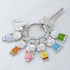 Tender Hearts Character Charm Key Chain