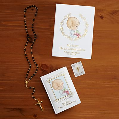 Precious Moments Black First Communion Gift Set