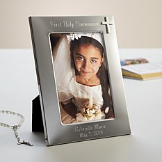 First Communion & Confirmation Silver Cross Frame
