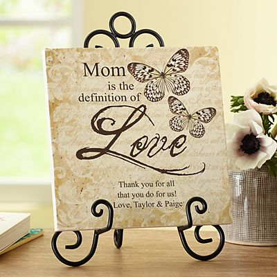 Definition of Love Tile with Easel
