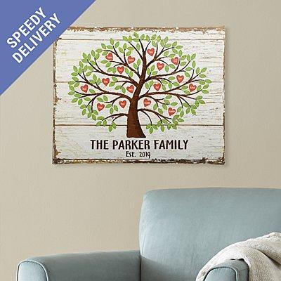 Family Tree of Hearts Canvas