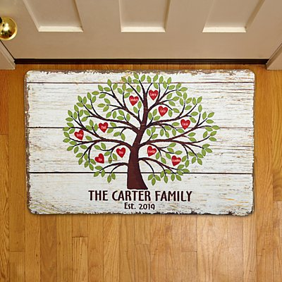 Family Tree of Hearts Doormat-17x27
