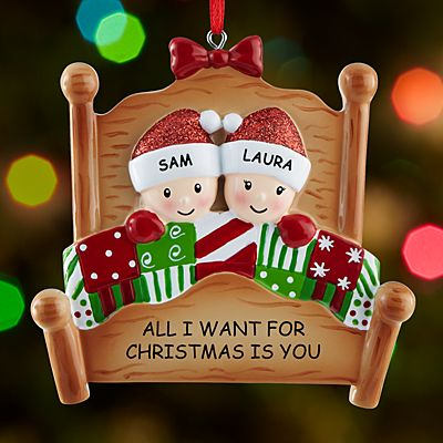 Cozy Christmas Couple Ornament