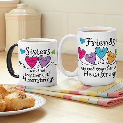 Sisters and Friends Heartstrings Mug