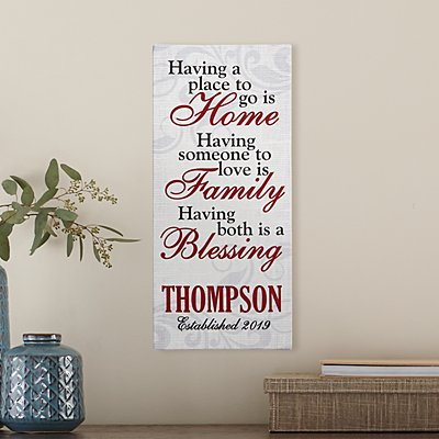 Home & Family Blessings Canvas