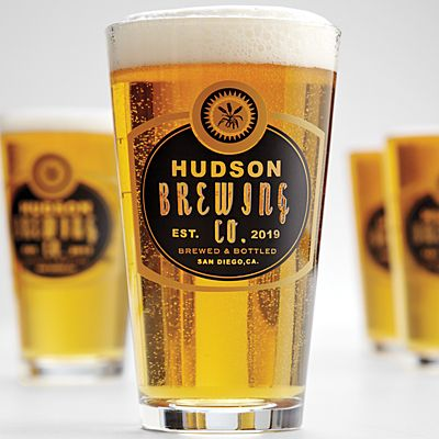 Personalized Barley Pint Glasses