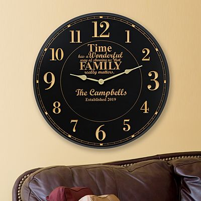 Time Has a Way Wall Clock