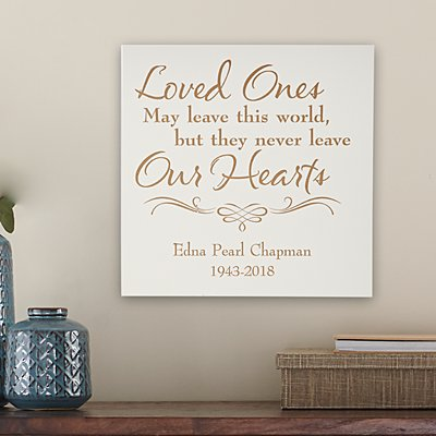 Always In Our Hearts Square Wood Plaque