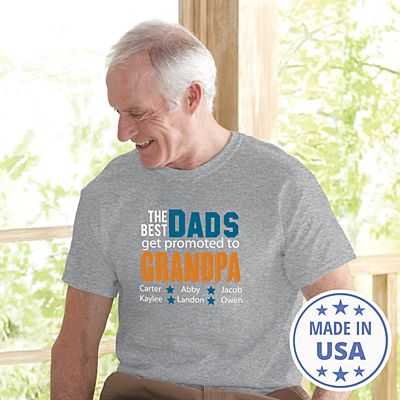 The Best Dads Get Promoted T-Shirt